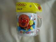 (補貨到) 最新款麵包超人白色膠杯/幼稚園杯(APG164)$40((無折)