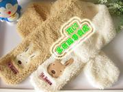 日本 le sucre 砂糖兔柔軟羊羔絨頸巾 圍巾 嬰兒bb用品