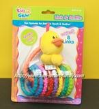 原裝KIDS 2 GROW link & rattle - 小鴨手抓搖鈴玩具連8個彩色牙膠串環 0m+ 3m+ 6m+ 8803