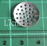 1.7cm銀色有孔片(20個)~ 有成品圖