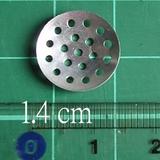 1.4cm銀色有孔片(20 個)~ 有成品圖