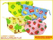 日本 linda linda 最新全棉加厚便當袋 飯盒袋 兒童嬰兒bb用品