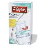 Playtex Standard Pre-Sterilized Disposable Liners 8-10 oz: 100 Count 即棄式專用奶袋(硬袋)