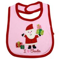 清倉價--carters 聖誕節口水肩 5 粉紅聖誕老人