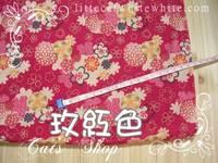 售馨貨品~ 和風錦緞~ 玫紅色菊花雲 28 X 50 cm