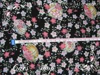 和風錦緞~黑色櫻花彩球 28 X 45 cm