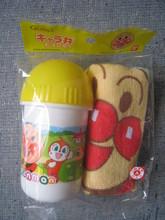 (已補貨)日本製 2011 麵包超人毛巾筒 毛巾仔 套裝(APG734) 特價$72(無折)