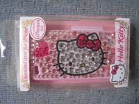 (原裝行貨)SANRIO Hello Kitty(2) iPhone 4 粉紅 閃石 硬殼 保護殼 保護套 Case(ipk02)超值價$189(無折)(vip 9折)