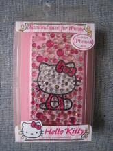 (原裝行貨)SANRIO  Hello Kitty iPhone 4 粉紅 閃石 硬殼  保護殼 保護套 Case(ipk01超值價$189(無折)(vip 9折)