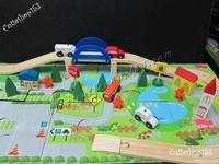 Cutieshop153 益智優質啟蒙玩具積木~(手眼協調,訓練小肌肉3+) Orbit flyover40件3D創意益智城市軌道車積木~#15970