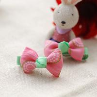 粉色髮夾 #KK001  $12/對