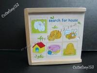 (拼圖盒)Cutieshop153 益智啟蒙積木玩具(專注力,語言訓練,組織句子,拼圖 ) 小動物居住地方拼圖盒 search for house #90837