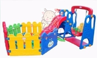 滑梯千秋波波池組合   (包藍球架及波波)   租玩具  (自取租價)