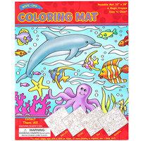 #033 【原價$65, 激減!】超大張,抹得甩,循環再用Coloring Mat 連兩款畫筆 海洋動物款 8079