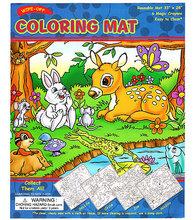 #034 【原價$65, 激減!】超大張,抹得甩,循環再用Coloring Mat 連兩款畫筆 野生動物款
