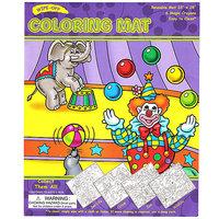 #032 【原價$65, 激減!】超大張,抹得甩,循環再用Coloring Mat 連兩款畫筆 馬戲團款