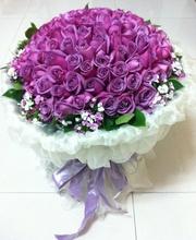 [鮮花速遞,網上訂花] #AF1038情人節99枝紫色玫瑰花束 限量最後一位