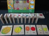 Cutieshop153 益智優質啟蒙玩具積木 ~ DOMINO米多諾~水果對對配,拼圖遊戲 #17502