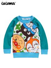 2012麵包超人& FRIENDS藍袖毛圈長袖TEE(APt737)特價$95(SIZE 80, 85CM)