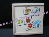 (拼圖盒)Cutieshop153 益智啟蒙積木玩具(專注力,語言訓練,組織句子,拼圖 3+) 動物與食物拼圖盒 search food # 16754