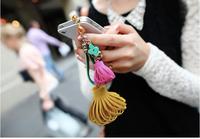 OC0088 韓國飾品 亮麗糖果色流蘇閃鑽手機防塵塞蘋果手機塞,耳機塞