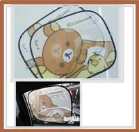[訂貨區] ㊣韓國 San-X Rilakkuma 鬆馳熊 汽車用品 汽車太陽側擋(1對)