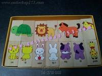 Cutieshop153 益智優質啟蒙玩具積木 ~ DOMINO米多諾~動物對對配,拼圖遊戲 #21032