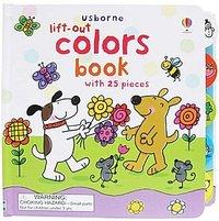 【售罄】#614 Usborne Lift-Out Colors book 早教認知學顏色厚紙板書,英文圖書,益智