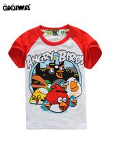 2012 ANGRY BIRDS 白色紅袖 TEE(ABT02) 超值價$78