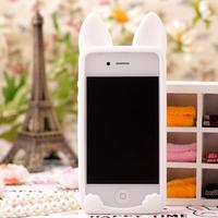 韓色設計 FOR I PHONE 4 / 4S 機矽膠套保護外殼 貓咪軟殼