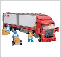 創意積木 大貨櫃車 益智玩具 345件_2850
