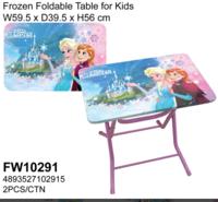Disney Frozen 冰 魔雪奇緣 Elsa Anna 兒童枱櫈 安全鎖摺書枱 餐桌_店取95折