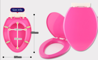 ㊣韓國 加長硬廁板.白/粉紅/綠 480mm x 350 mm 060717