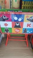 正品Kumamon 熊本熊 兒童枱櫈 安全鎖摺書枱 餐桌_店取95折 040717
