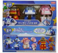 訂㊣韓國 Robocar Poli 波力 救援小英雄(3架庄)迷你 變身玩具車機械人260818