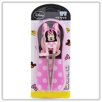 韓國進口 Disney Minnie Mouse 米妮 兒童 學習筷子連餐具盒套裝 用品 _3066