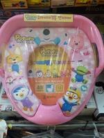 韓國 Pororo 冰鎮小企鵝 兒童用品  學習廁所板 軟墊 小廁所板_2786a/140118