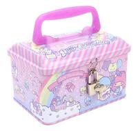 Sanrio Little Twin Stars 夾萬仔 錢箱 鐵箱 兒童用品 精品_3285