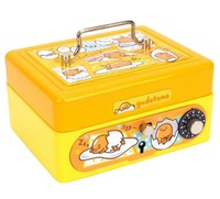 Sanrio Gudetama Metal Cash Box with Dial Lock & Key (S) 夾萬連密碼鎖及鎖匙20161202