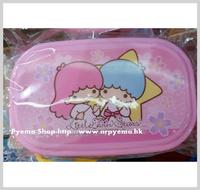 2015 開學用品 Sanrio Little Twin Stars 兒童 卡通幼稚園毛巾盒 食物盒 膠合2816