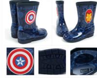 韓國進口 Marvel  Ironman captain 鋼鐵奇俠美國隊長聯盟雙面體 兒童水靴  水鞋 雨兒具用品16-21碼_16517