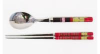 ㊣韓國MARVEL 復仇者聯盟 IRON MAN 鋼鐵奇俠 兒童具組 筷子+湯匙羮 16517 廚餐房用品