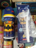 Batman Stainless Steel Vacuum Bottle W/ Straw & Shoulder Strap 不銹鋼保溫壺連吸管及肩帶400ML