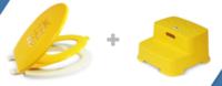 ㊣韓國子母廁所硬板 +學習梯級椅孖寶套庄價$499(店取照價9折)散賣廁板$339/椅$179/260717