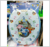 ㊣韓國 Poli Robocar子母廁所板 成人 兒童軟墊學習二合一坐廁板(360x440mm)__店取-HK$10