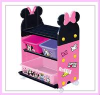 ㊣日本 Disney  Minnie 米妮 玩具架 玩具箱 儲物架 儲物櫃 雜物架 收納 *即送廸士尼廢紙箱* ※店取95折