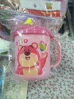 正品 Disney Lotso 勞蘇兒童 幼稚園 手挽 有蓋水杯