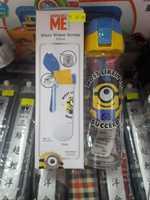 正品 Disney Minion 迷你兵團 卡通 兒童 玻璃水樽 直飲式 水壺 300ml