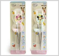 韓國進口 Disney Baby Mickey Minnie Mouse 米奇 米妮BB 學習筷子 兒童訓練筷子_3122