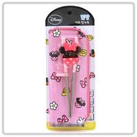 韓國進口 Disney Minnie Mouse 米妮 兒童 學習筷子連餐具袋套裝 用品 _3065